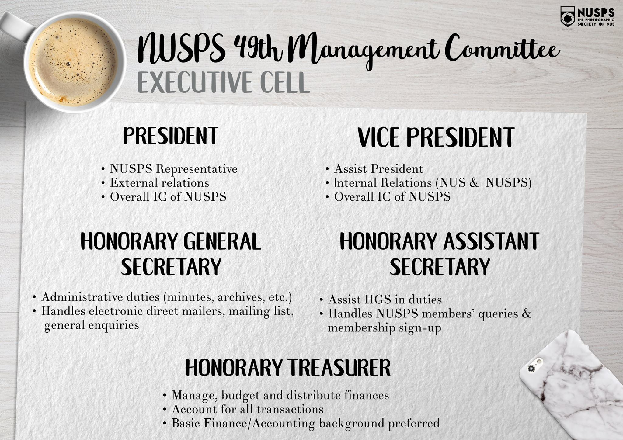 Recruitment for the 49th Management Committee!