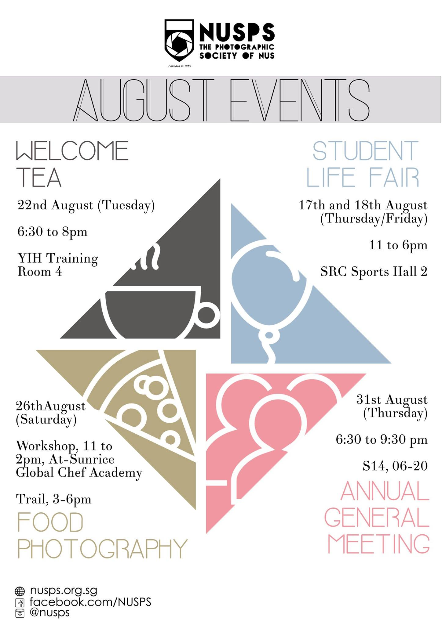 Upcoming Events in August 2017