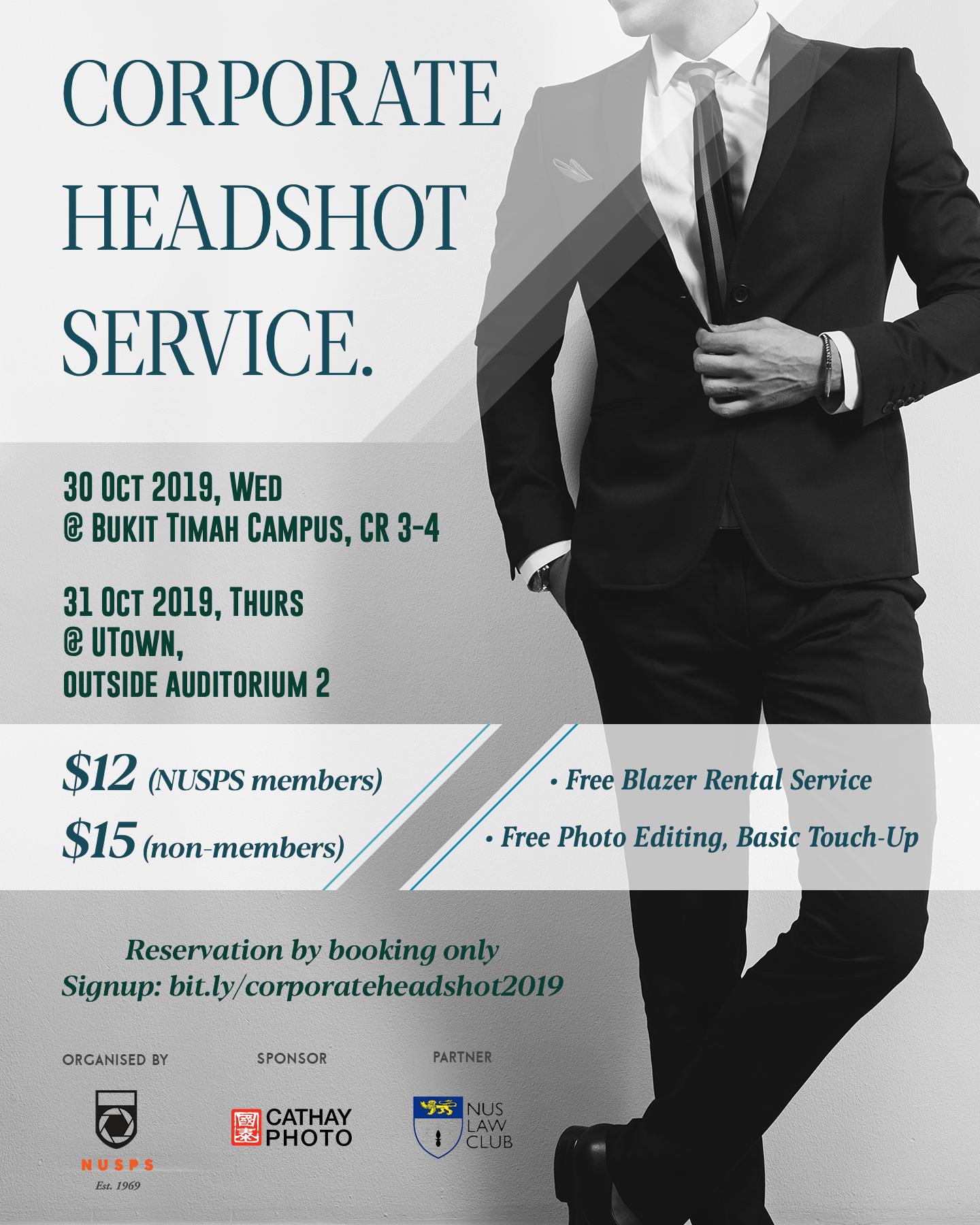 Corporate Headshot Service 2019