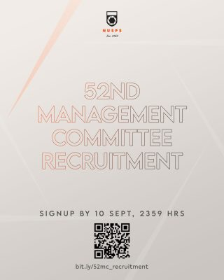 NUSPS 52nd Management Committee Recruitment