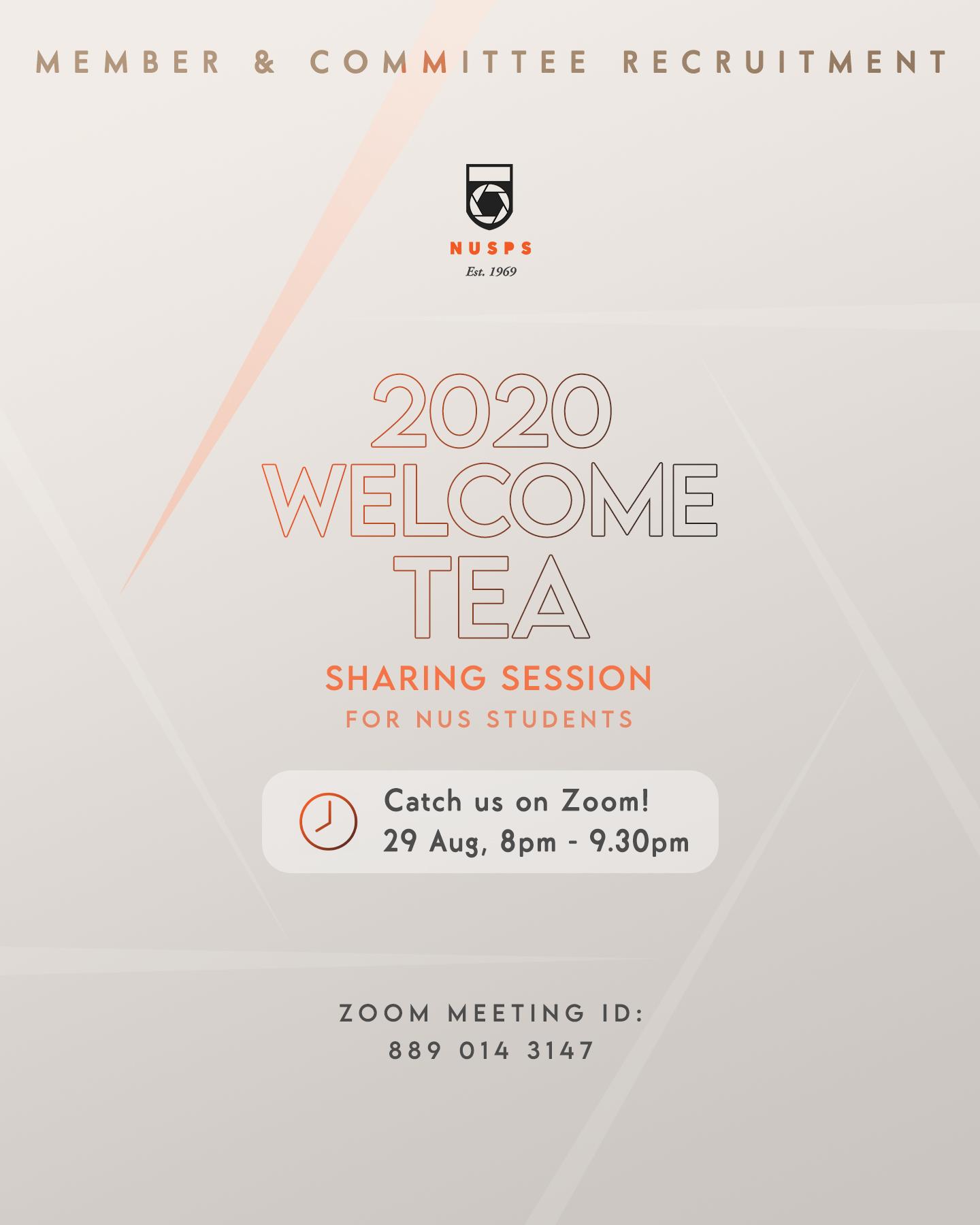 Welcome Tea 2020
