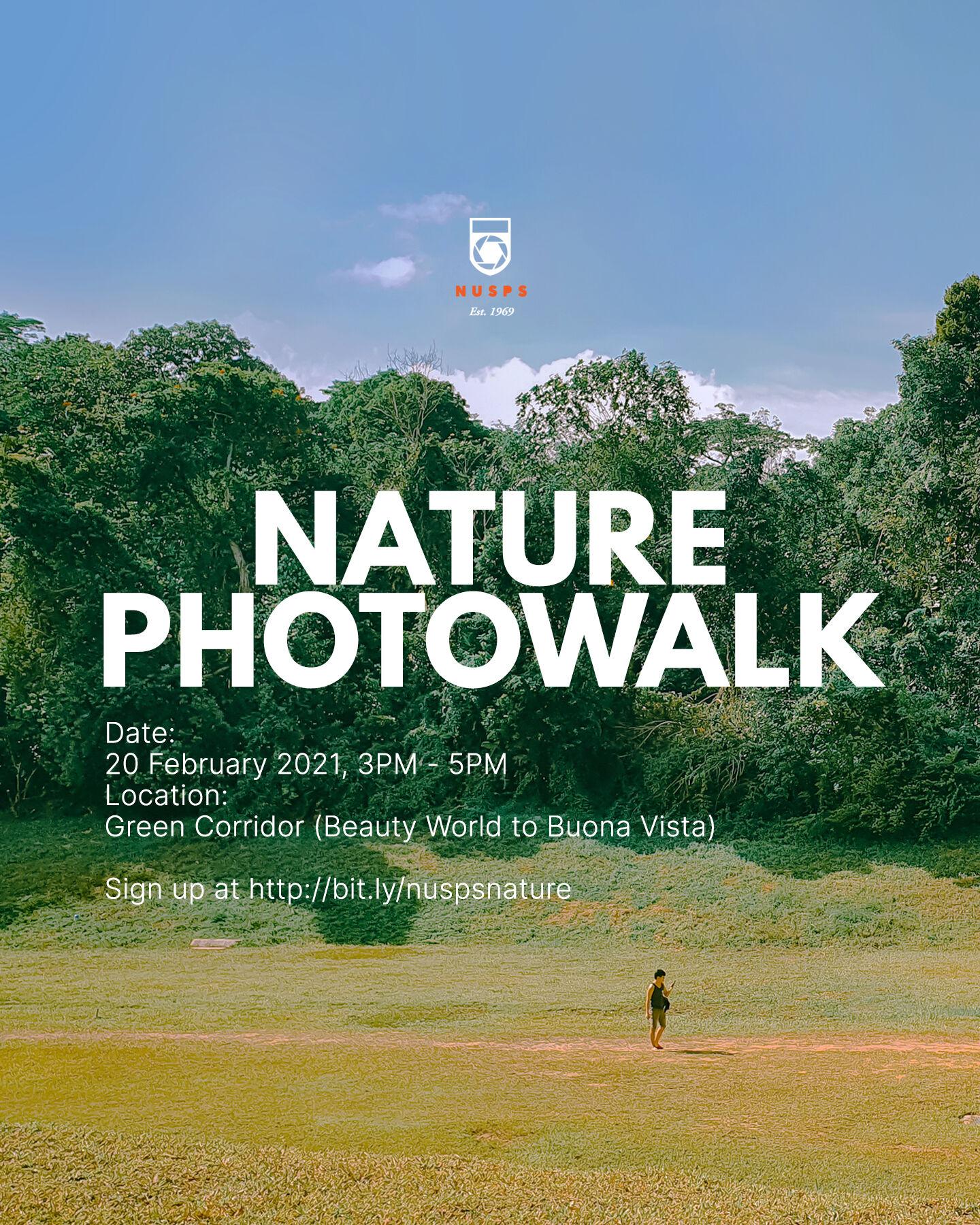 Nature Photowalk 2021 @ The Green Corridor