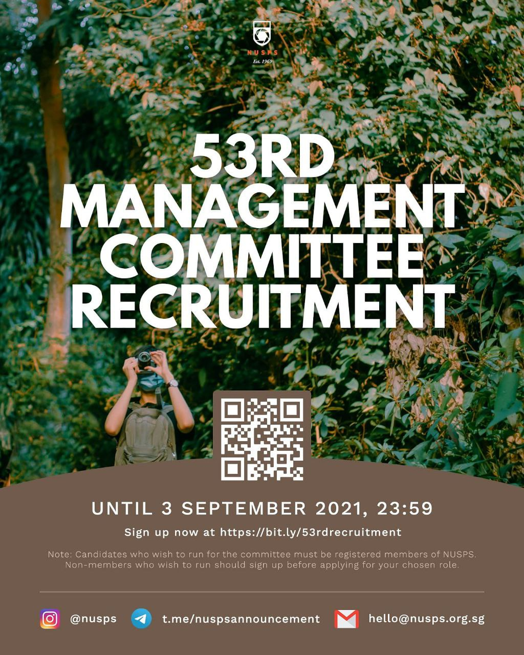 NUSPS 53nd Management Committee Recruitment